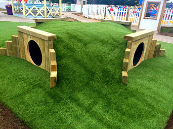 Bespoke Natural Play Tunnel/ Grass Mound
