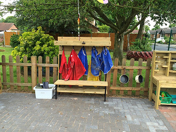 EYF Coat and Welly Stand