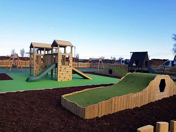 Natural Grass Mounds for Playgrounds