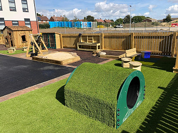 Natural Play Tunnels for School Playgrounds