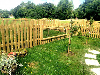 Bespoke Fencing with Mirror